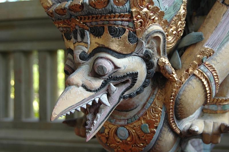 1024px bird god woodcarving