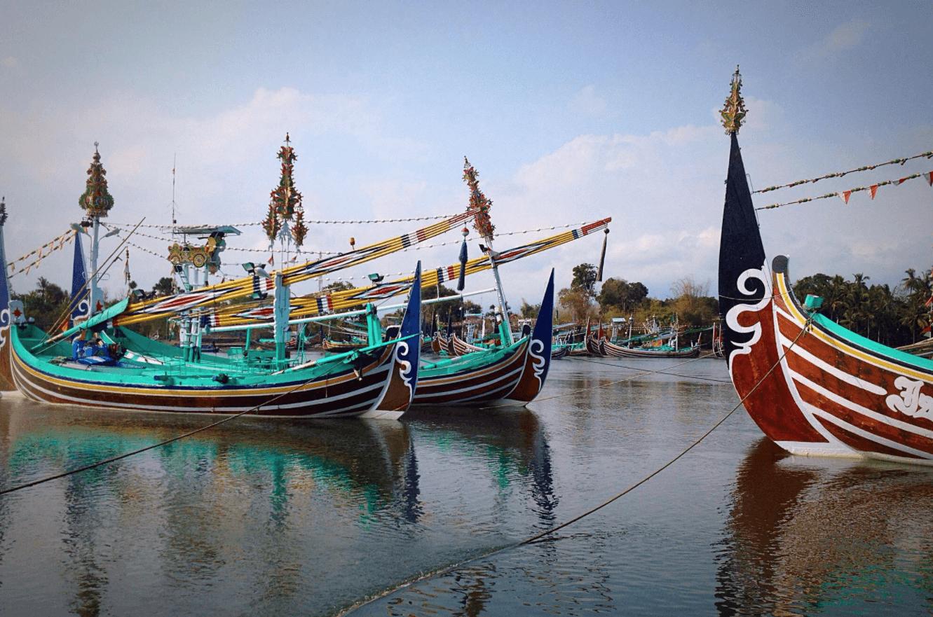Bateaux de pêche de Perancak