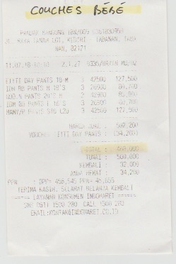 Couches bébé : 468,000 rp