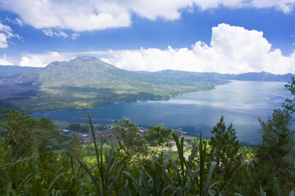Volcan Batur & son lac
